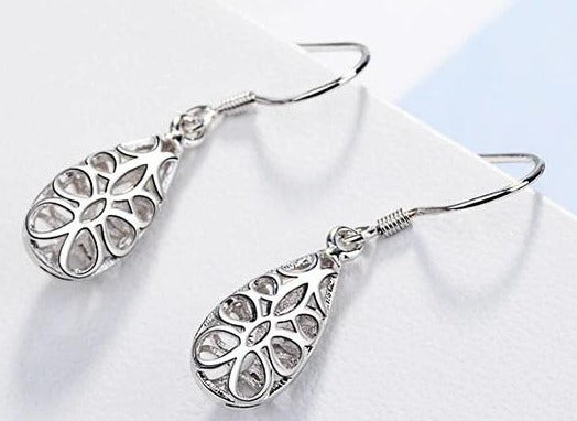 925 Sterling Silver Classic Dangle Earrings for Women