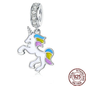 925 Sterling Silver Unicorn Lucky Charm/Bead for Bracelets and Necklaces