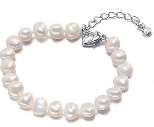 High Quality Heart-Shaped Baroque Pearl Bracelets