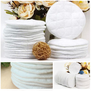 100% Cotton Reusable Nursing Pads - 20 pcs