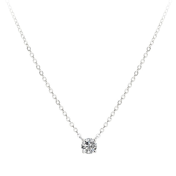 Trendy 925 Sterling Silver O-Chain Necklace 0.3cm/0.4cm/0.5cm Zircon Necklace For Women Gift Summer Fashion Jewelry NK033