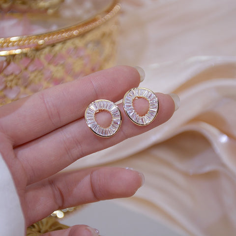 Beautiful CZ Circle Earrings for Women
