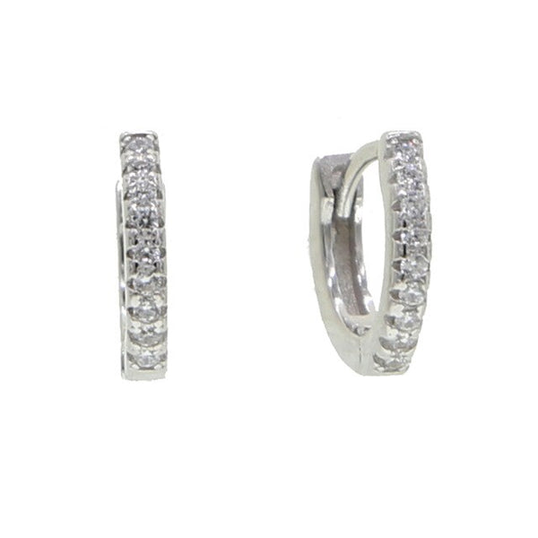 925 Sterling Silver Gemstones Hoop Earrings with Gold Overlay