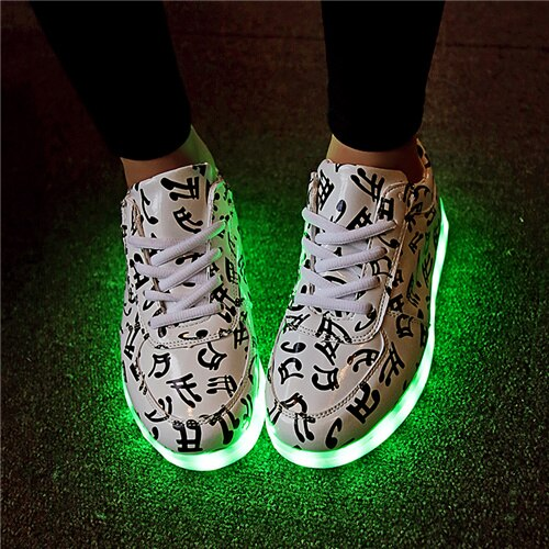 Colorful LED Light Up Shoes for Boys and Girls