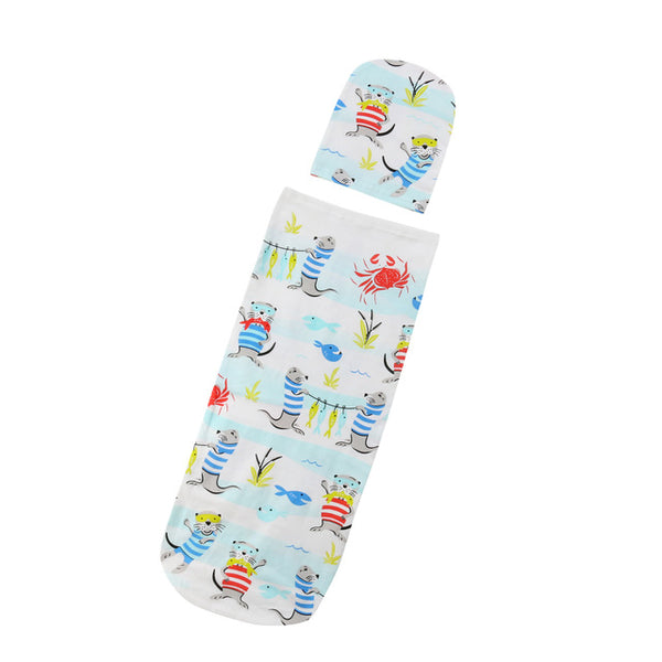 Newborn Baby Sleeping Bag & Hat 2 Piece Set for Boys & Girls