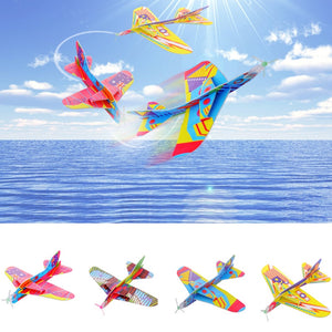 Hand Throw Flying Glider/Combat Aircraft Foam Paper Airplane