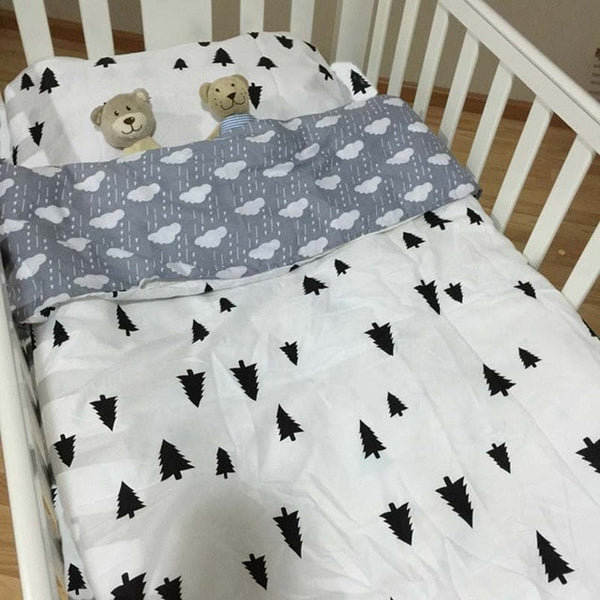 Baby Bedding Set with Bed Sheet, Duvet Cover & Pillowcase