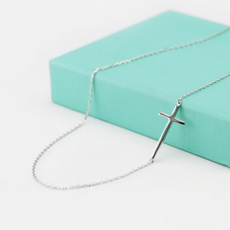 925 Sterling Silver Faith Cross Necklace