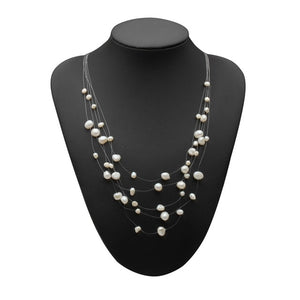 Real natural freshwater pearl necklace for women,beautiful multi layer statement colorful necklace anniversary gift