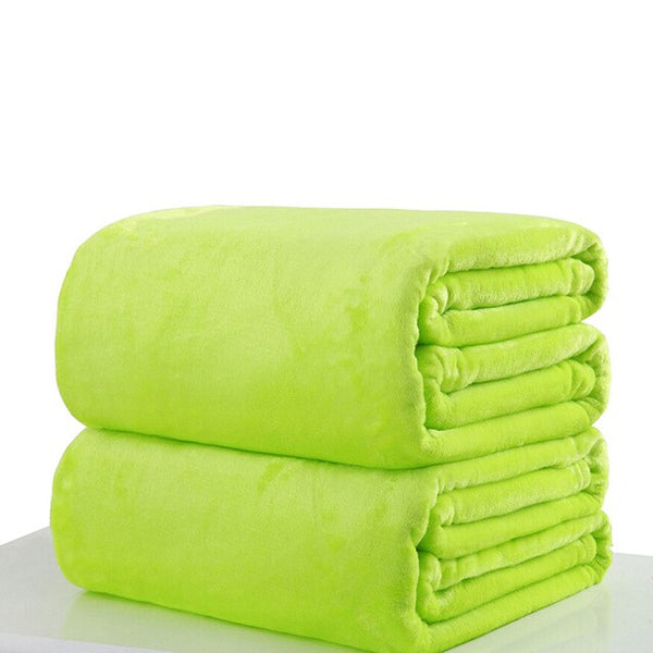 High Quality Plush Solid Color Blanket for Babies