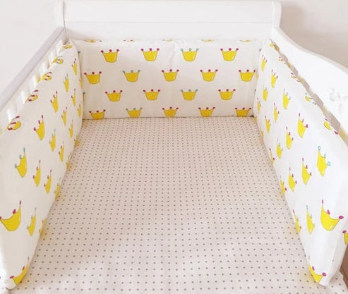 Baby Bed Crib Bumper U-Shaped Detachable with Zipper