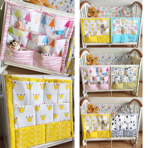 Cute baby Crib Organizers with Pockets