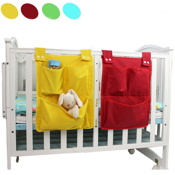 Hanging Crib Organizers with Pockets 17*13 Inch - Various Colors