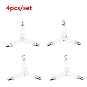 4pcs Adjustable Bed Sheet/Crib Cover Grippers