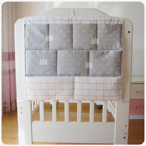 Hanging Crib Organizer with Pockets 24*20 Inch