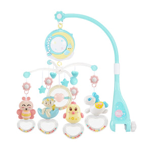 Music and Lights Projection Baby Crib Mobile-PINK/BLUE