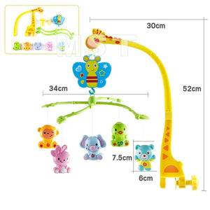 Cute Animals Baby Crib Spin Mobile with Music