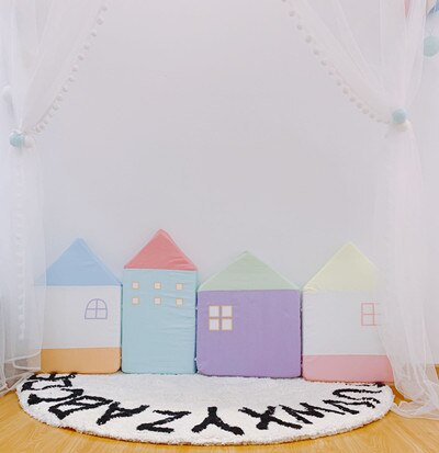 Little House Pattern Baby Crib Bumper 4pcs