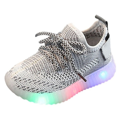 Colorful LED Light Up Mesh Shoes for Boys and Girls