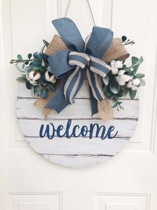 Welcome with cotton