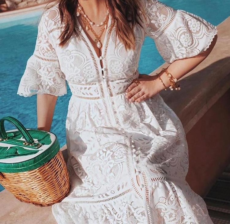 Embroidery Lace Dress