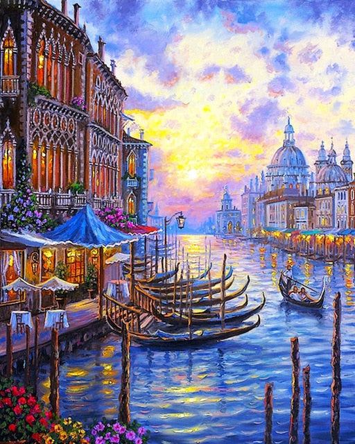 Magical Paint By Numbers - Oil Canvas - Multiple Print Designs - Free Shipping