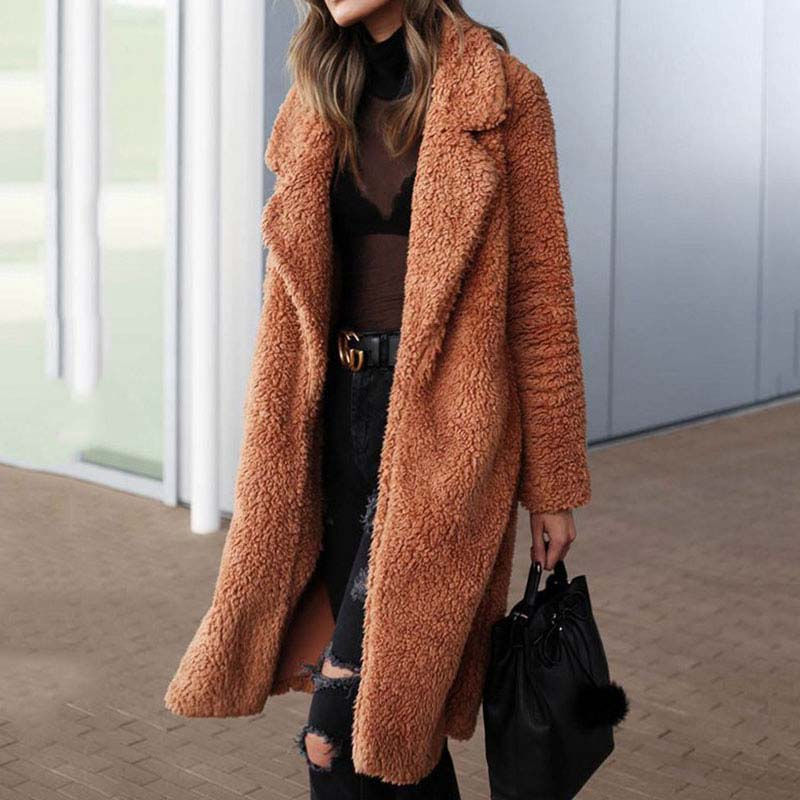 Plush Long Winter Coat