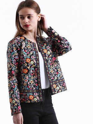 Autumn Collarless Elegant Jacket