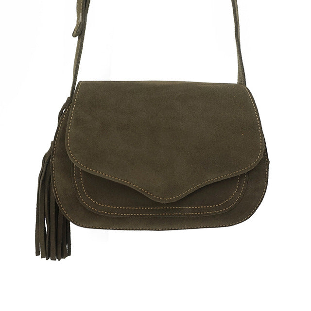 Boho Leather Saddle Bag