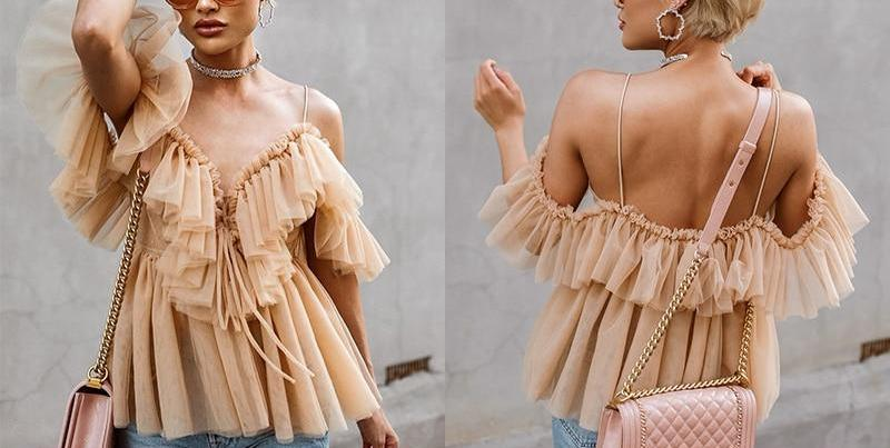 Boho Off Shoulder Peplum Blouse
