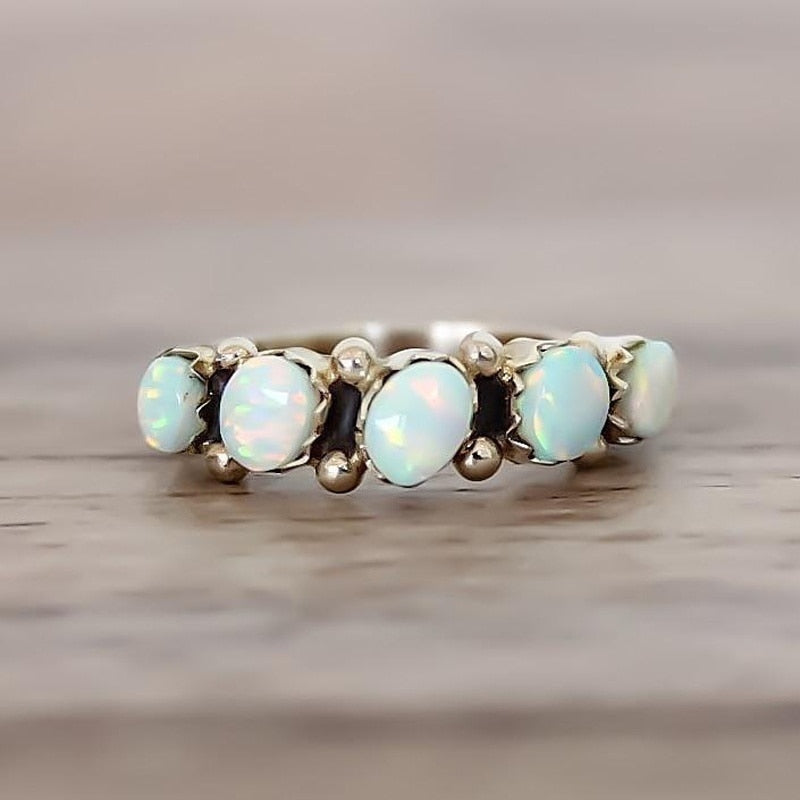 Vintage Opal Knuckle Rings Set
