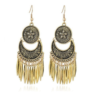Metal Vintage Tassel Earrings