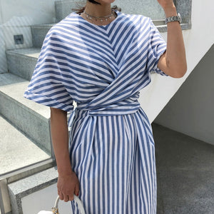 Vintage Look Summer Cotton Split Dress