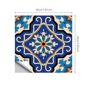 Moroccan Tiles PVC Waterproof Self Wallpaper