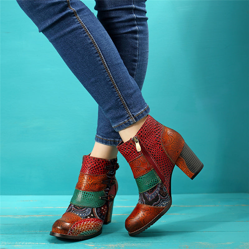 Vintage Boho Retro Genuine Leather Boots