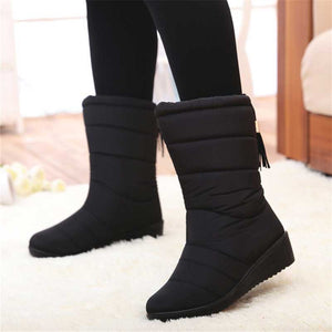 Boho Waterproof Ladies Snow Winter Plush Boots