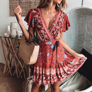 Bohemian Inspired Wrap A Dress
