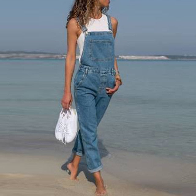 VIntage Gloria Slim Fit Denim Jumpsuit - Plus  Sizes avail