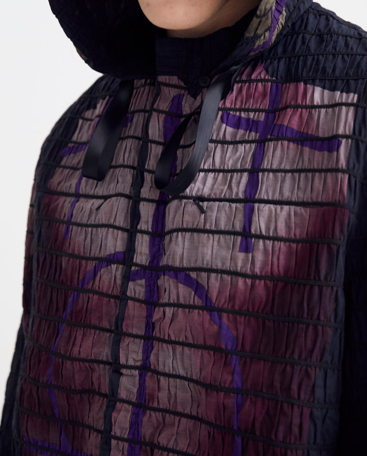 Elastic Body Jacket - Black/Purple