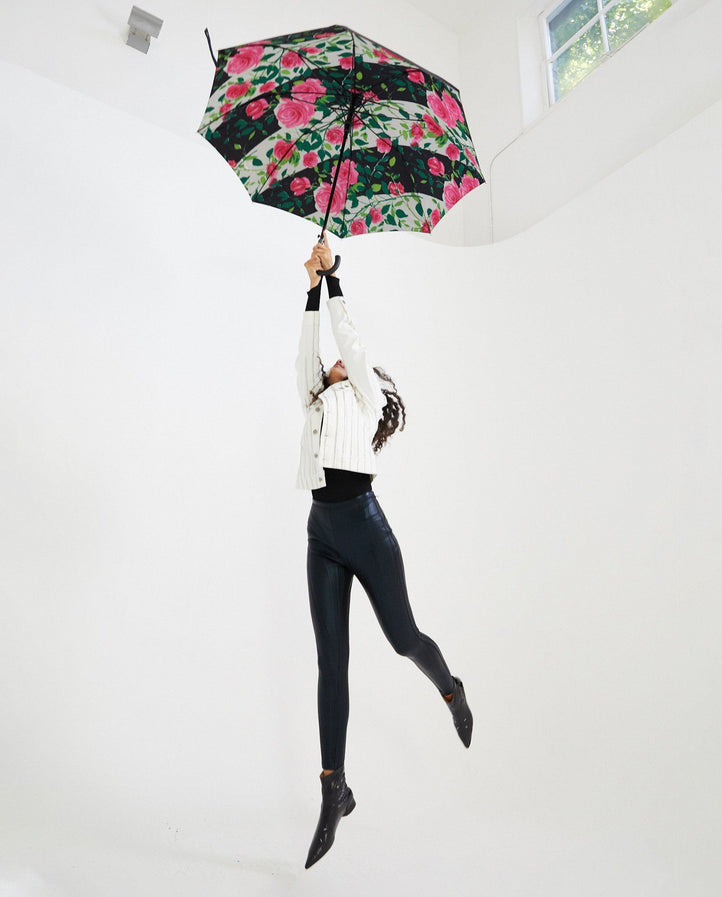 30Inch Printed Umbrella - Black/Multi WOMENS RICHARD QUINN