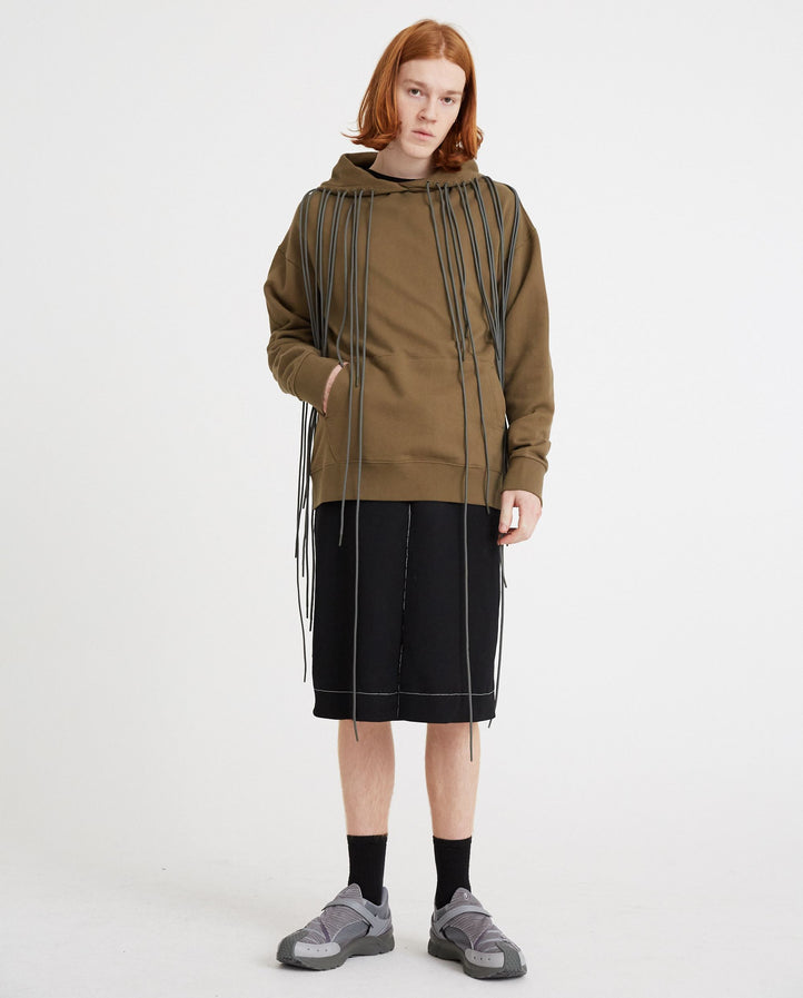 3.1 Hoodie Left - Olive Green MENS POST ARCHIVE FACTION