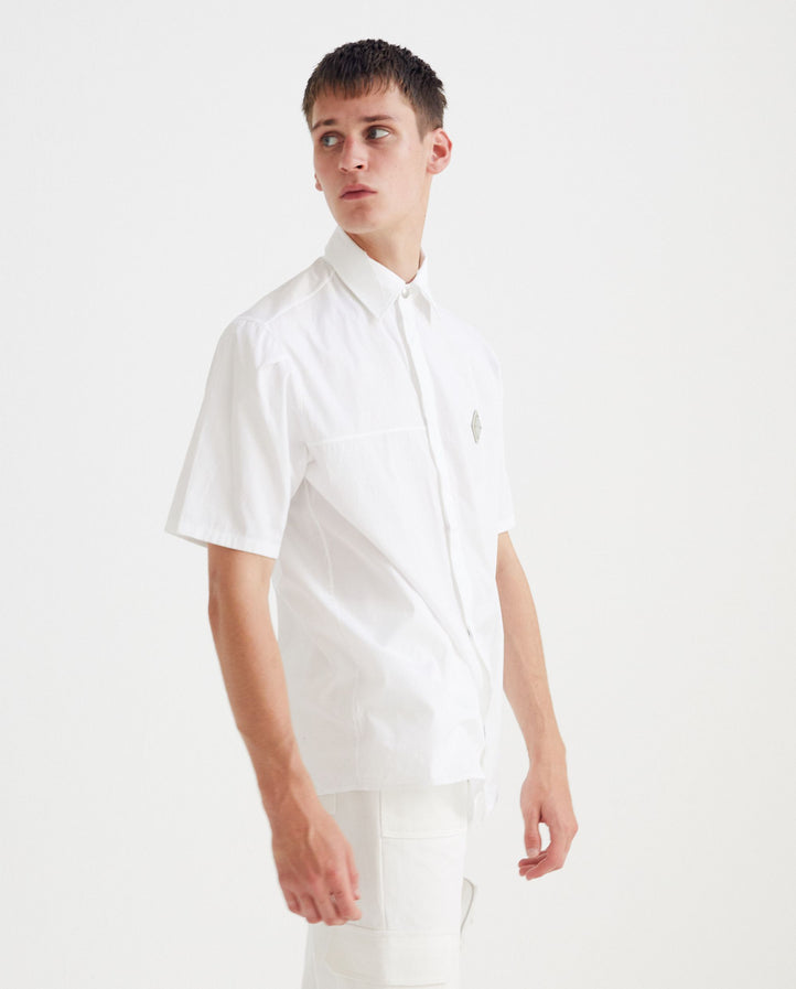 A COLD WALL - RHOMBUS BADGE SHORT SLEEVE SHIRT - ACWMSH001 UNISEX A COLD WALL