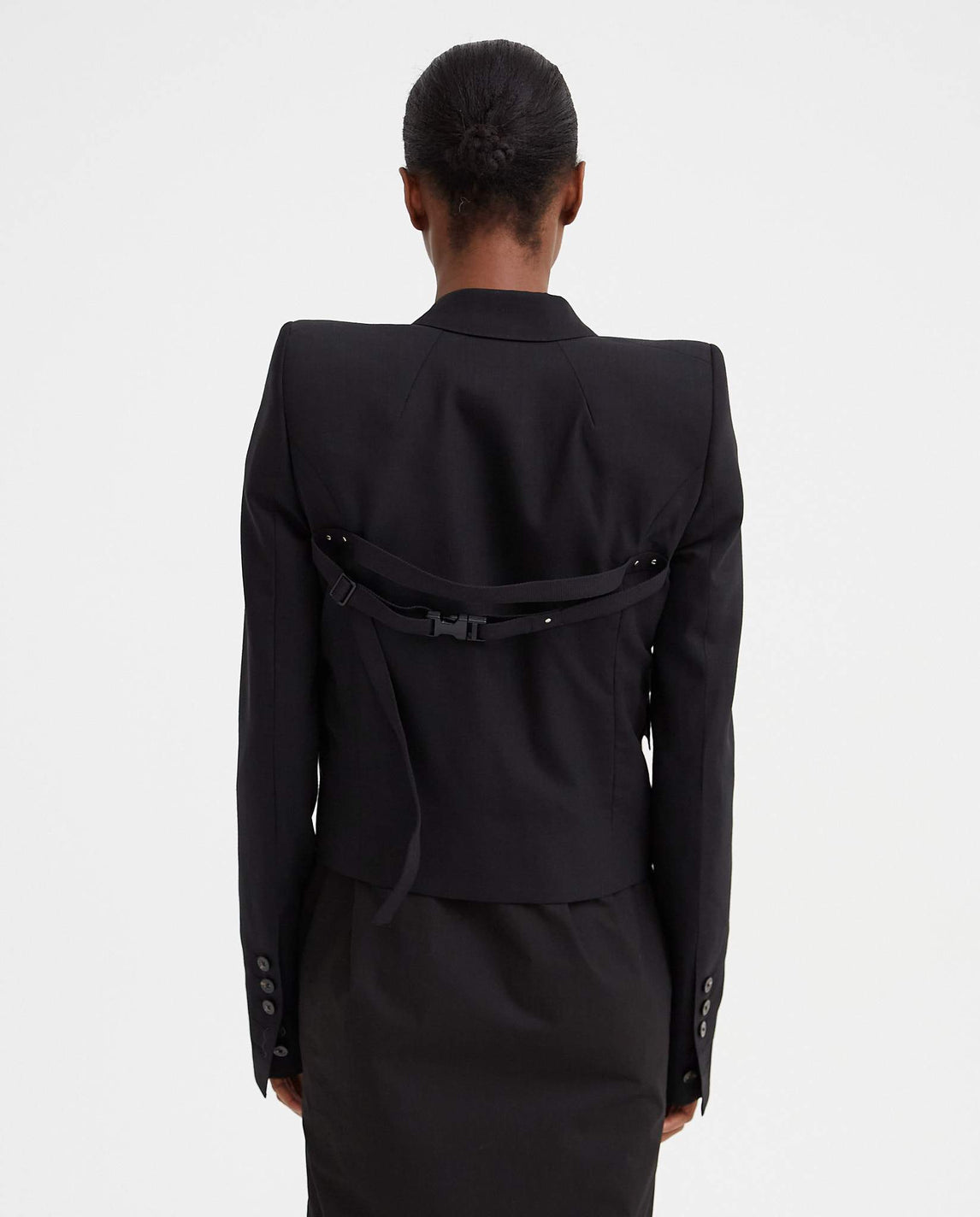 Alice Cropped Jacket - Black WOMENS RICK OWENS