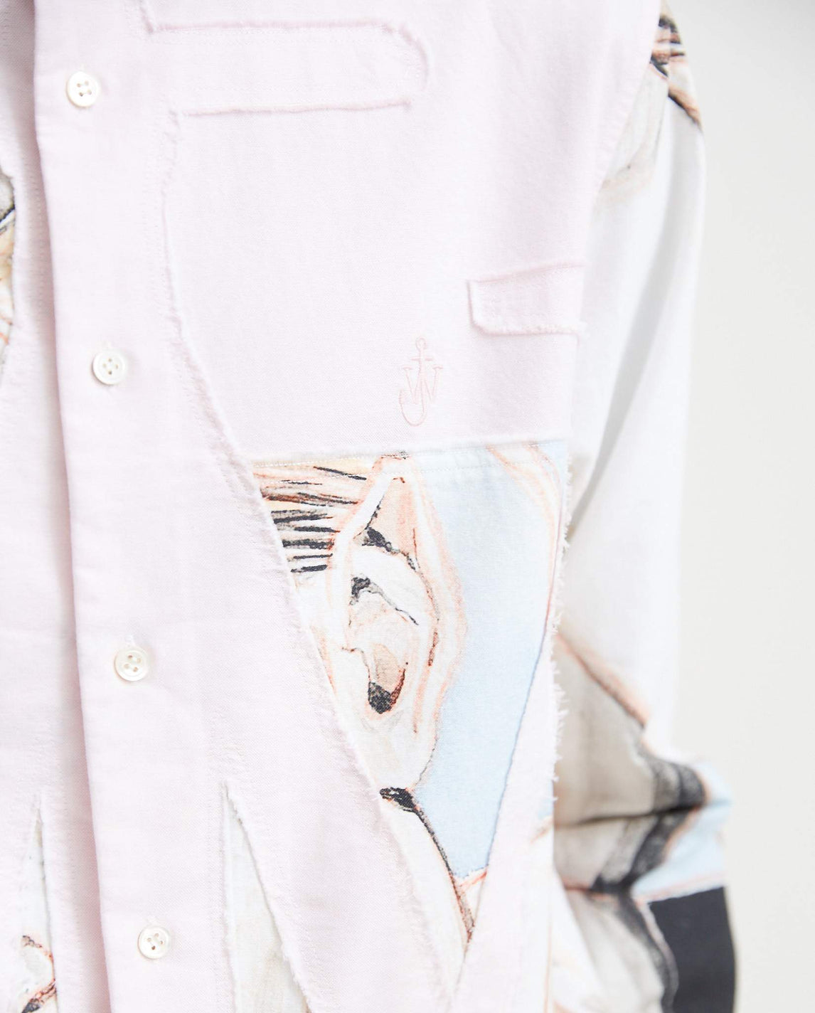 Anchor Applique Shirt - Light Pink MENS JW ANDERSON