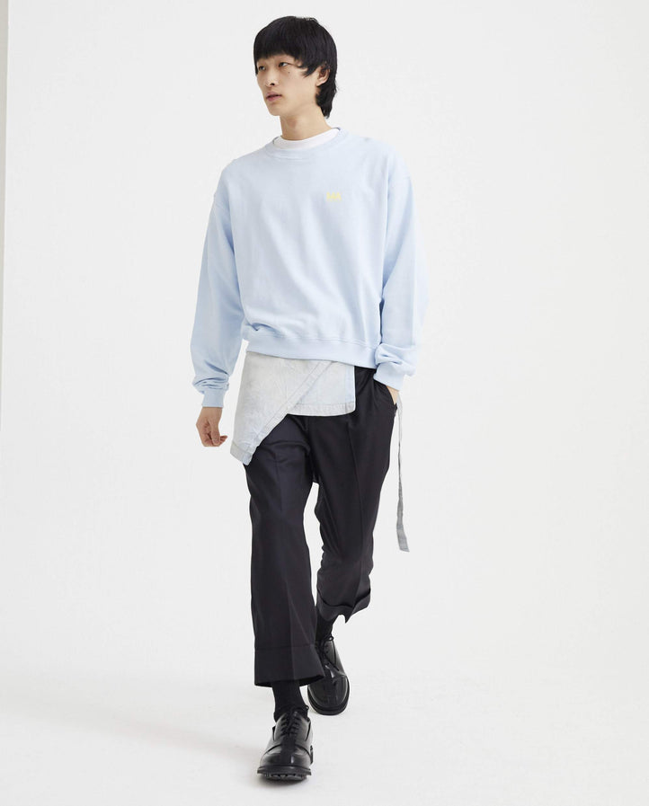 Andrew Cropped Sweater - Blue MENS MARTIN ASBJORN