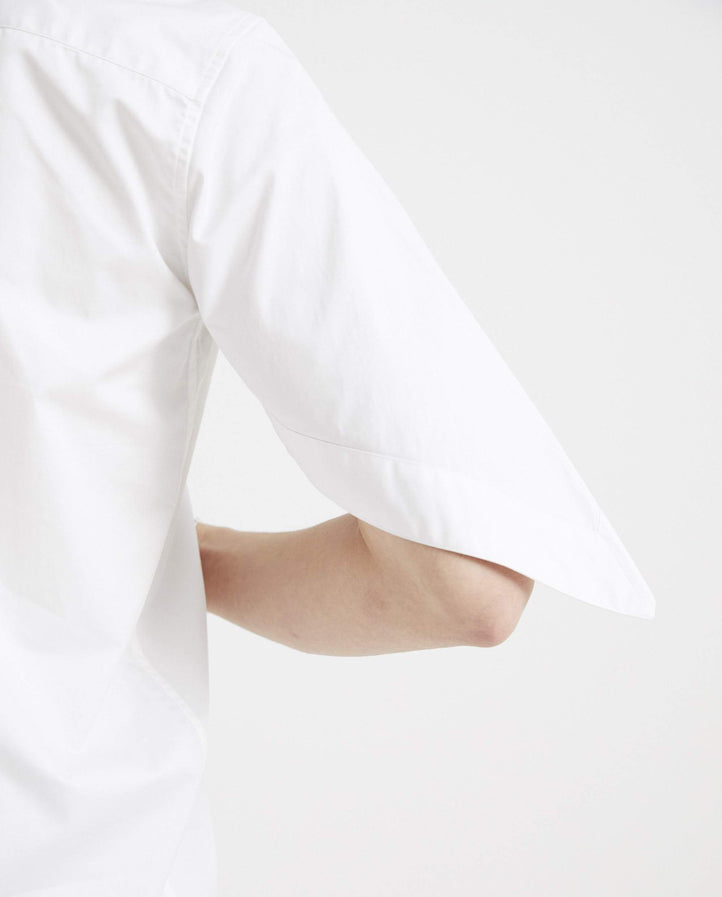 Asymmetrical Button Down Shirt - White MENS XANDER ZHOU