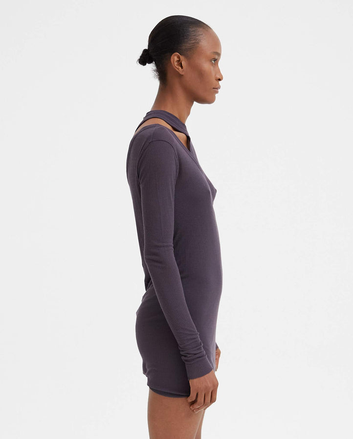 Banana Ziggy T-Shirt - Plum WOMENS RICK OWENS