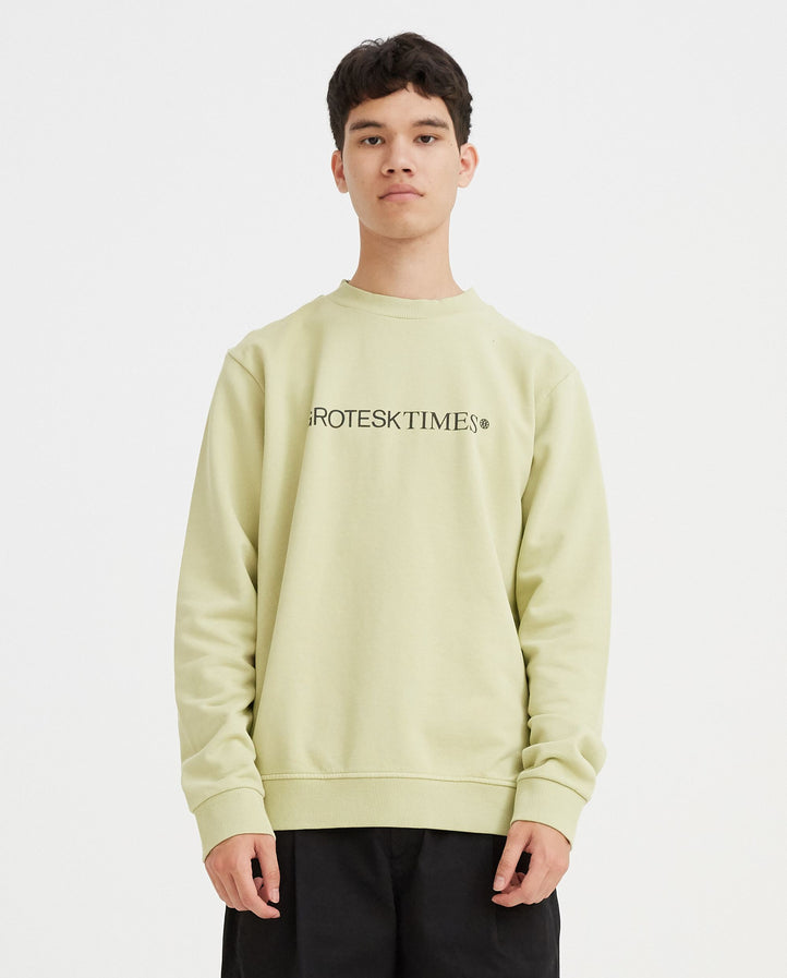 Basic Sweat with Print - Light Green MENS VYNER ARTICLES
