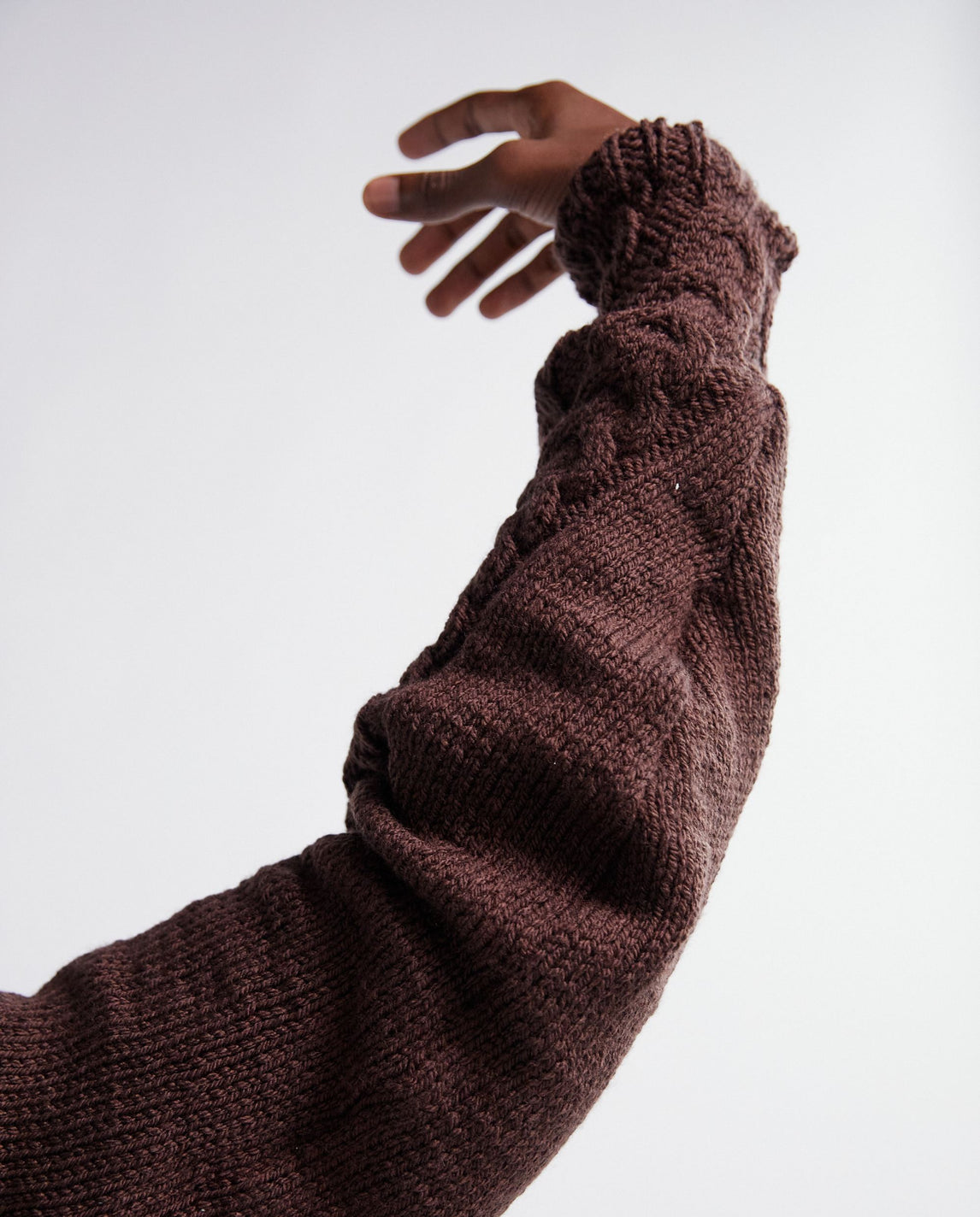 Basket Hand Knitted Sweater - Brown UNISEX CAMERON WILLIAMS