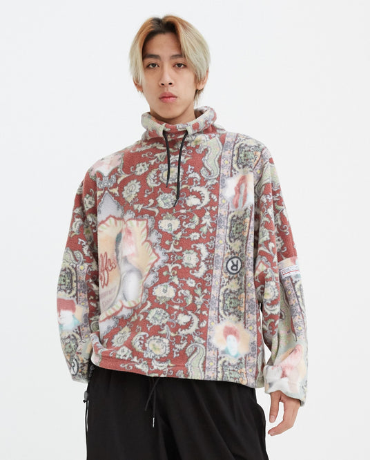 Batwing Fleece Top - Red MENS MARTINE ROSE